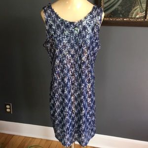 ADORE shades of blue sequin tank dress NWT, medium